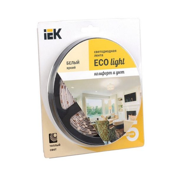 Лента LED 5м  блистер  LSR-3528W-WW120-9,6-IP20-12V IEK